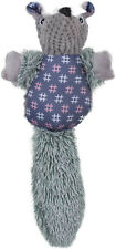 Plush Crinkle Dog Toy, Badger Stuffed Dog Toy with Squeaker and Crinkle Paper