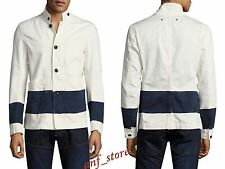 NWT G-STAR 3D Cotton Striped Blazer Mens WHITE Jacket Blazer M MEDIUM $310