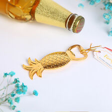 20 pieces Wedding Favor Gold Pineapple Bottle Opener for Tropical Themd Wedding