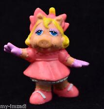 Vintage 1988 Muppet Babies MISS PIGGY PVC Toy Figure Pink Girl Pig Baby Henson