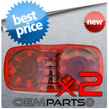 """2X - LED 2"""" x 4"""" RED CLEARANCE LIGHT OVAL MARKER TRAILER RV CAMPER SURFACE"""