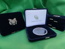 4 Empty American Silver Eagle Display Gift Cases + US Mint Capsules -No Coins