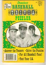 The Original Domino's Baseball Trivia Puzzler #1 Dell 1980 First Ed