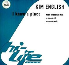 """12"""" - Kim English - I Know A Place (HOUSE) NUEVO - NEW, STOCK STORE LISTEN"""