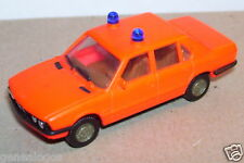 MICRO HERPA HO 1/87 BMW 528 I POMPIERS ROSE FLUO