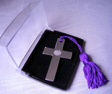 Christening Gift Lord's Prayer Silver Plated Cross Bookmark,