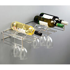 Chrome Wall Mounted Wine And Glass Holder