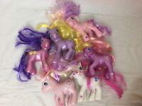 My Little Pony Lot Of 6 Girls Toy Set Hasbro Plastic Assorted