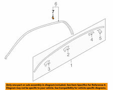 Retainer Roof Drip Rail Moulding GENUINE KIA 828723D000 Fits 2000-2005 Optima