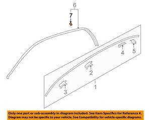 (1) Retainer Roof Drip Rail Moulding GENUINE KIA 828723D000