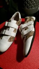 GUCCI WOMEN SNEAKERS TWO TONE COLOR PRE-OWNED,  SIZE 39  #121830