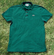 MENS USED TEAL GREEN LACOSTE POLO SHIRT SIZE 5 / MEDIUM