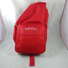 ha Eddie Bauer Insulated Picnic Bag Backpack Set Plates Utensils Goblets Red
