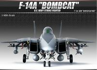 Academy 1/48 F-14A BOMBCAT USN Strike Fighter Aircraft Plastic Model Kit 12206