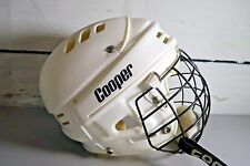 Vintage Cooper Certified Hockey Helmet White with Cage Mask FM300M