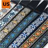 USA Retro Vintage Jacquard Woven Acoustic Electric Guitar Strap Webbing Belt DC