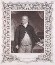 """Charles James Fox"" engraving after Opie by Robinson for John Tallis 19th c."
