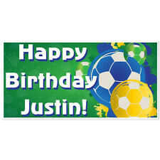 Soccer Ball Paint Splatter Birthday Banner Personalized Party Backdrop