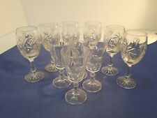 Lot of 10 Pinwheel Crystal cocktail  glasses excellent condition .
