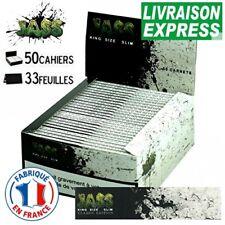 Lot 50 Carnets de Feuille à Rouler Slim JASS Feuilles Longues 2 BRIQUETS OFFERTS