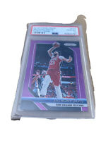 *** 2018 Prizm PURPLE PRIZIM #177 ANTHONY DAVIS PSA 10 Gem Mint 24/75 Rare ***