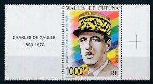 [21706] Wallis & Futuna 1990 De Gaulle good airmail stamp very fine MNH $35