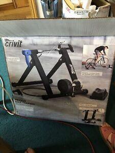 Crivit Indoor Bike/Turbo Trainer, 8 Magnetic Resistance Levels, Foldable BNIB
