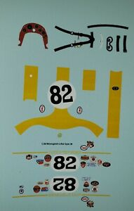 "Repro 1/24 Monogram Indy Lotus Type 38 ""Jim Clark"" Decal Set"