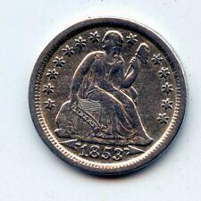 1853-p SEATED LIBERTY HALF DIME - SCARCE !! (SEE PROMO)