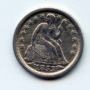 1853-p SEATED LIBERTY DIME - SCARCE !! (SEE PROMO)