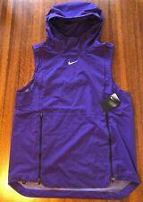 NWT $145 Nike Alpha Fly Rush Hoodie Sleeveless Jacket 908420-545 Purple Men's L