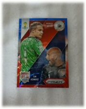 2014 Panini Prizm World Cup Blue Red Wave Matchups Neuer / Tim Howard #16