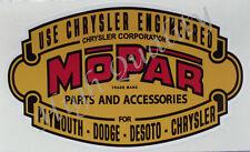MOPAR PARTS AND ACCESSORIES -  DECAL / STICKER. -  Y024