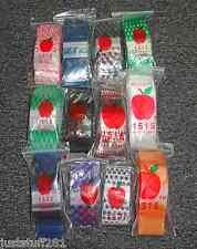 Apple Baggies #1515 (1,200) ASSORTED DESIGNS (12 Packs With 100 In Each Pack!!)
