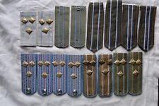 Lot  8 sets military epaulettes Bulgarian Communist Army Officers Air Force