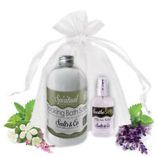 Bath Salts & Pillow Spray Gift Set Bergamot Rosemary Eucalyptus & Frankincense