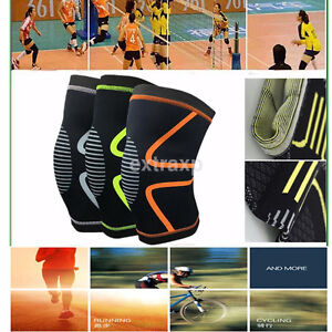 Knee Compression Sleeve Support Running Gym Sports Basketball Joint Pain Relief