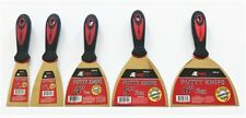 5 ASSORTED ATE PRO FLEXIBLE STAINLESS STEEL PUTTY KNIFE KNIVES SCRAPERS DRYWALL