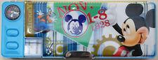 Cartoon Mickey Mouse Kids Boys Girls Stationery Multifunction Pencil Case Box