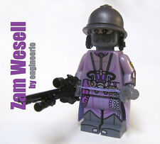 Custom Zam Wesell Star Wars minifigures boba fett jango lego bricks