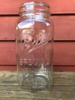 Vintage Ball Special Wide Mouth Half Gallon Clear Glass Canning Jar, USA