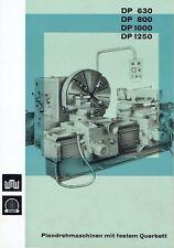 VEB Werkzeugmaschinenfabrik Zerbst Prospekt Drehmaschine DP 630 800 DDR 1967