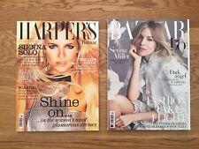Two Harpers Bazaar Magazines Sienna Miller Covers, January 2007, April 2017