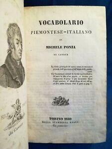 Ponza, Vocabolario piemontese - italiano. Dialetto Prima edizione, Completo 1830