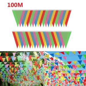 150 Flags Colorful Banner Bunting Party Event Garden Decor