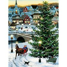 Full Drill 5D Diamond Painting Embroidery Kits Winter Snow Home Arts Decor