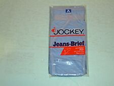 Vtg NOS 1984 Mens Jockey Jeans Brief Fly Front Cotton Blue Size XL 40-42 USA