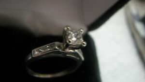 PLATINUM Diamond  Princess Ring, $2100 Stone+ 1699 Platinum 0.73carat