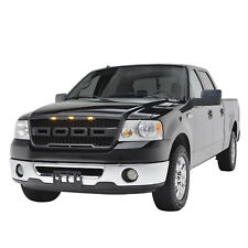 Raptor Style Grille for 04-08 Ford F150 - Black Replacement Upper LED Grill