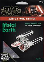 2019 Metal Earth Star Wars Rise of Skywalker ZORII'S Y-WING FIGHTER 3D Model Kit